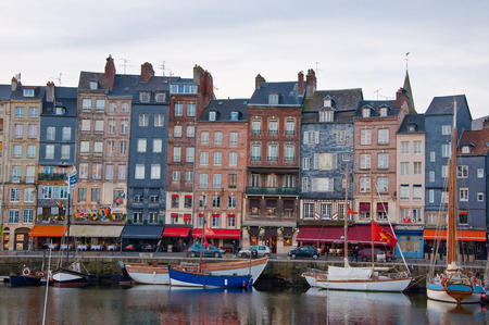 basse normandy: Honfleur on January 8, 2013 in France