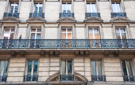 Typical  Haussmannian  building on January 15,1013 in Paris