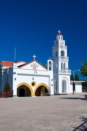 tsambika: Tsambika Monastery on Rhodes island, Greece  Stock Photo