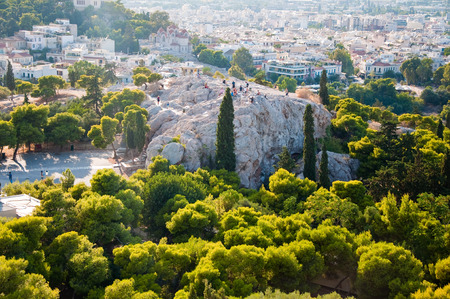 peripteral: The Agora seen from the Acropolis of Athens  Greece