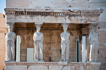 caryatids: The Porch of the Caryatids on the Acropolis of Athens
