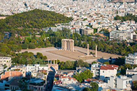 The Temple of Olympian Zeus in Athens, Greece  photo