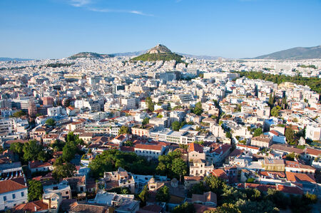 View of Athens and Mount Lycabettus, Greece  photo