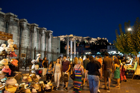 Nightlife in Plaka on August 1, 2013 in Athens, Greece