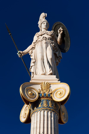 The statue of Athena  Athens, Greece  photo