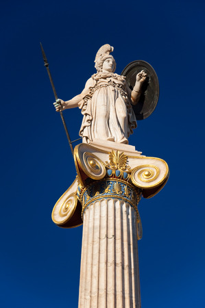 buckler: The statue of Athena  Athens, Greece  Stock Photo
