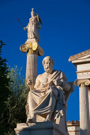 platon:  The statue of Plato  Athens, Greece