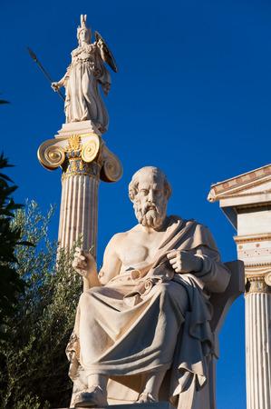 The statue of Plato  Athens, Greece  photo
