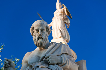 The statue of Plato  Athens, Greece  photo