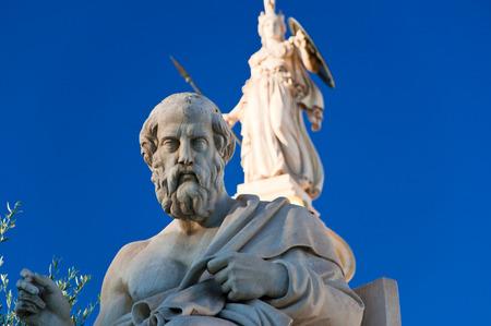 plato: The statue of Plato  Athens, Greece