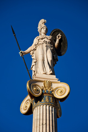 The statue of Athena  Athens, Greece  photo
