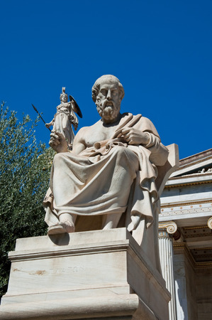 The statue of Plato  Athens, Greece