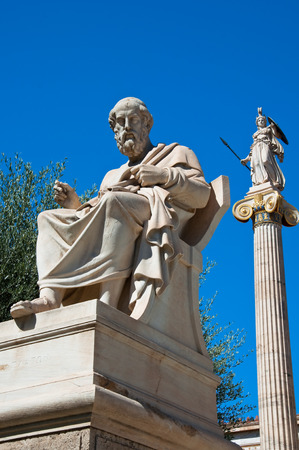 platon: The statue of Plato  The Academy of Athens, Greece