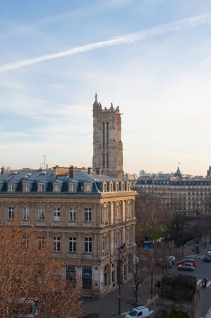 pascal: Saint-Jacques Tower on January 15, 2013 in Paris  France