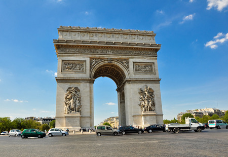 triumphal: Triumphal arch in Paris Editorial
