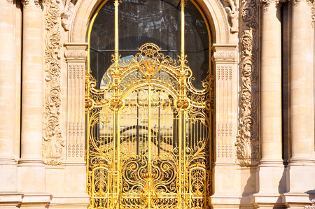 petit: The Petit Palais facade in Paris, France