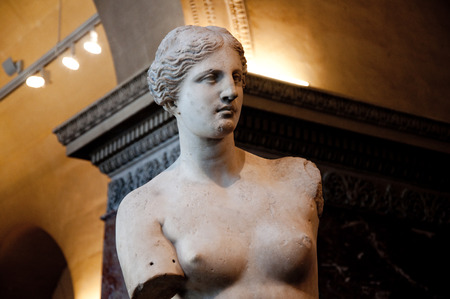 Aphrodite of Milos at the Louvre Museum, August 18, 2009 in Paris, France