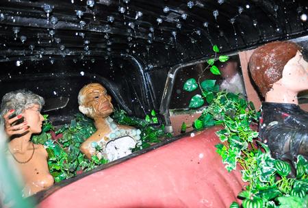 Figueres, Spagna-6 agosto All'interno della vettura surreale nel Museo Dali agosto 6,2009 Dali Theatre e Museum è un museo di Salvador Dalì nella sua città natale di Figueres, in Catalogna, Spagna Editoriali