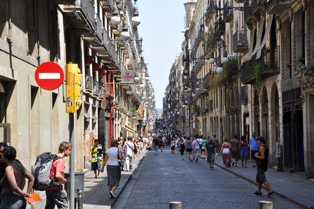 gotico: BARCELONA-25 de julio de la calle en Barcelona el 25 de julio de 2013, de Barcelona, ??Catalu�a, Espa�a