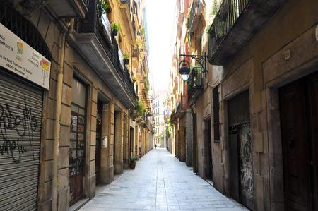 gotico: Calle estrecha en el Barrio G�tico de Barcelona