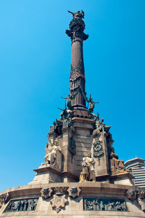 buttresses: Columbus Monument in Barcelona  Spain
