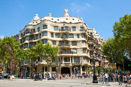 BARCELONA-JULY 25  La Pedrera  Antoni Gaudi  on July 25, 2012 in Barcelona  La Pedrera is a building by the Catalan architect Antoni Gaudi in the Eixample district of Barcelona, Catalonia, Spain