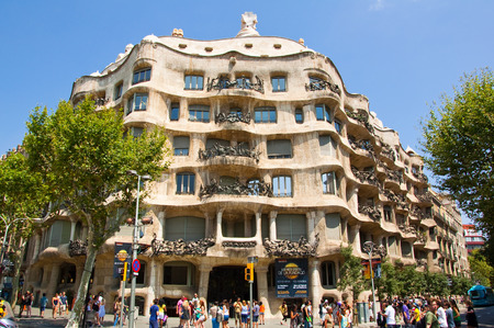 BARCELONA-JULY 25  La Pedrera  Antoni Gaudi on July 25, 2012 Barcelona, Catalonia, Spain