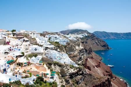 thera:  Oia on the island of Thera  Santorini , Greece