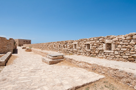 fortezza: The wall of the Fortezza on Crete, Rethymnon city. Greece.