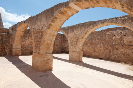 fortezza: Inside the Fortezza of Rethymno city on the Crete island, Greece.
