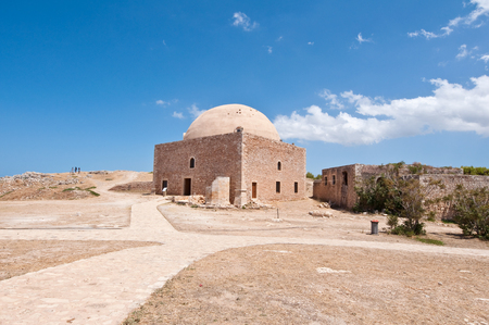 fortezza: Sultan Ibrahim mosque Inside the Fortezza of Rethymno. Crete, Greece. Stock Photo