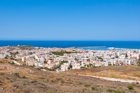 fortezza: Panorama of Rethymno on the island of Creete, Greece. Stock Photo