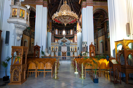 The Agios Minas Cathedral in Heraklion on the Crete island in Greece.