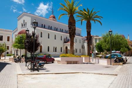 CRETE,RETHYMNO-JULY 23: Megalos Antonios church on July 23,2014 in Rethymnon city on the Crete island, Greece.