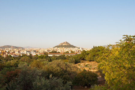 Acropolis of Athens from Ancient Agora in Athens, Greece. photo