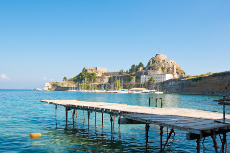 The Old Fortress on the island of Corfu, Greece.