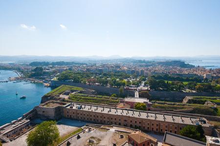 kerkyra: Panorama of  Kerkyra from the Old Fortress. Corfu island, Greece.