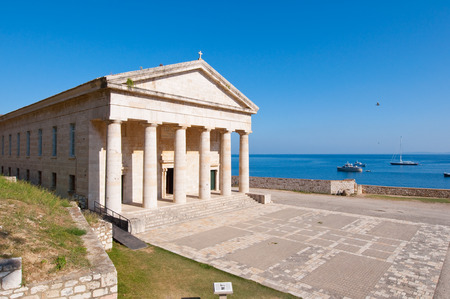 The west facade of the Church of St. George at the Old Fortress. Corfu, Greece. photo