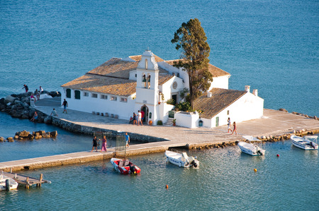 Vlacheraina Orthodox monastery in the midday on the island of Corfu, Greece. photo