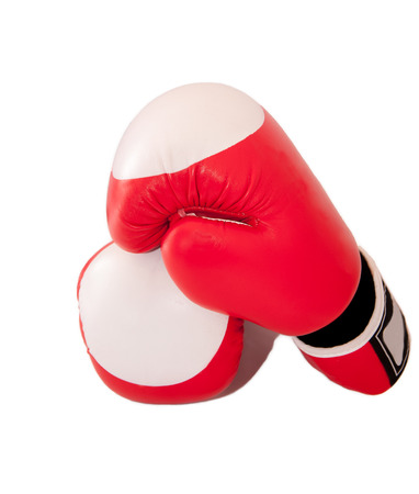 A pair of boxing-gloves isolated on white. photo
