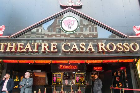 red light district: Amsterdam-April 30: Theatre Casa Rosso in Red Light District on Apripl 30,2015 in Amsterdam, the Netherlands.