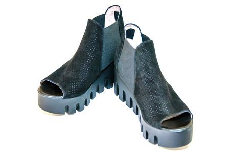 opentoe: Womens open-toe isolated on white.;
