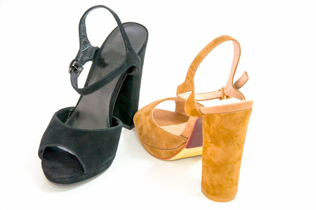 opentoe: Womens open-toe isolated on white.
