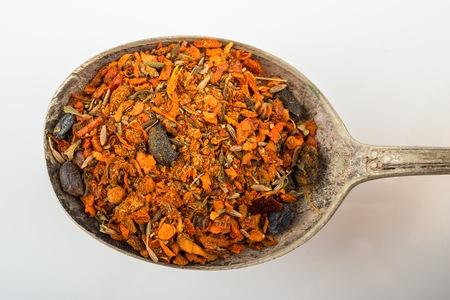 Spices for Uzbekistan plow (pilaf) Stock Photo