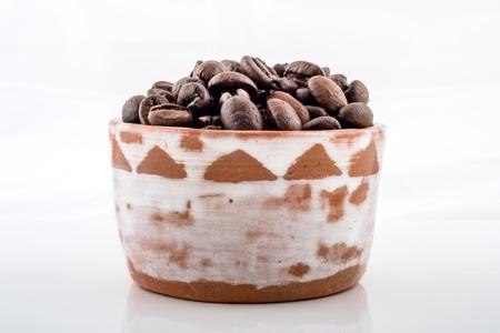 murk: Roasted Vietnam coffee beans. Stock Photo