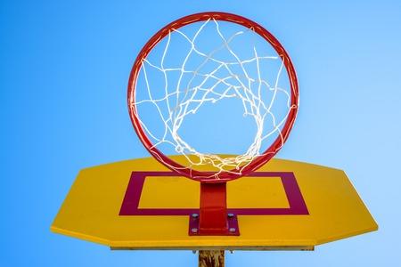 rim: Basketball hoop net rim.