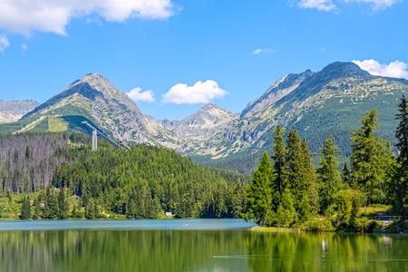 Sommer in der Hohen Tatra. Hohe Tatry. Slowakei. Vysoke Tatry .. Strbske pleso. Strebske Pleso See.