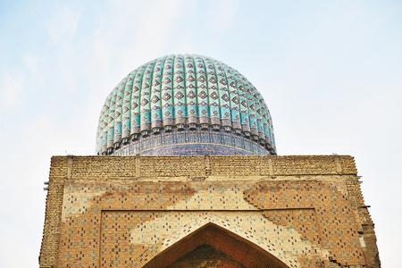 registan: Shah-i-Zinda  Samarkand, Uzbekistan Stock Photo