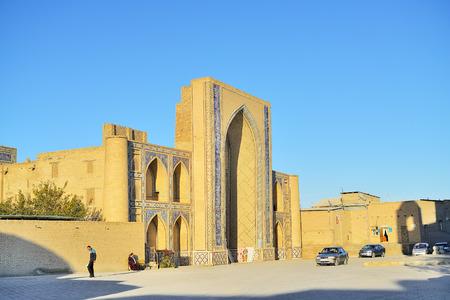 2013 November 11, Ancient mosque brick wall, Bukhara, Uzbekistan Editorial