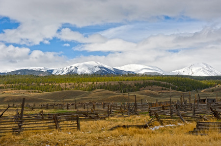 The Hayden Ranch south of Leadville, Colorado was established in 1859, mainly producing hay for miners' horses and mules during Leadville's mining boom. In the latter 1890's, the ranch began running cattle, but fell into disrepair when it was all but aba